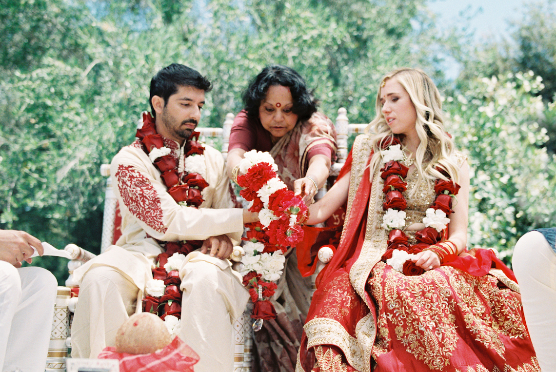Hindu American Fusion Wedding (With Peonies) | Bramble and Vine 52