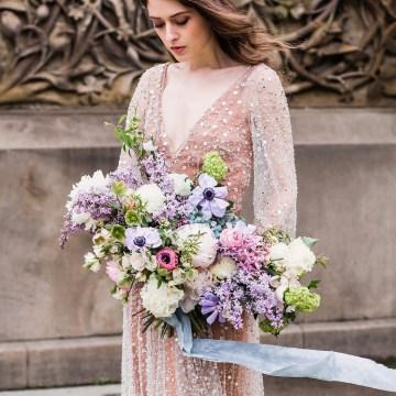 Sparkling Art Deco Wedding Inspiration From NYC | Mibellarosa | Jenny Fu Studio 27