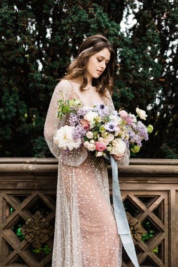 Sparkling Art Deco Wedding Inspiration From NYC | Mibellarosa | Jenny Fu Studio 30