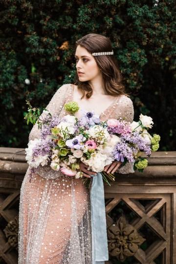Sparkling Art Deco Wedding Inspiration From NYC | Mibellarosa | Jenny Fu Studio 31