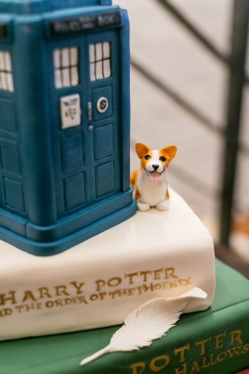 Literary Chic Loft Wedding (With A Harry Potter Cake!)   Brio Photography 38