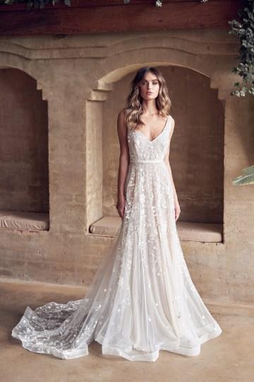 The Romantic & Sparkling Anna Campbell Wanderlust Wedding Dress Collection | Amelie Dress-5