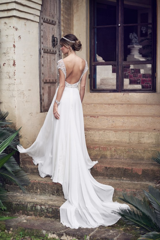 The Romantic & Sparkling Anna Campbell Wanderlust Wedding Dress Collection | Aria Dress (Summer Skirt)-3