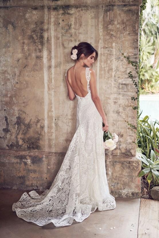 The Romantic & Sparkling Anna Campbell Wanderlust Wedding Dress Collection | Jamie Dress (Empress Lace Skirt)-5