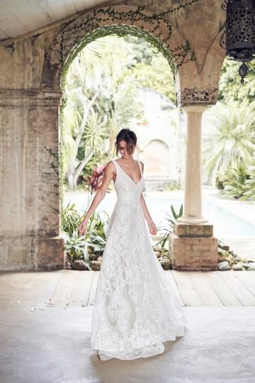 The Romantic & Sparkling Anna Campbell Wanderlust Wedding Dress Collection | Jamie Dress (Empress Lace Skirt)-6