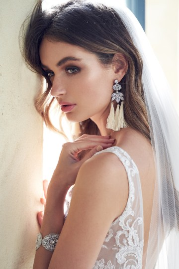 The Romantic & Sparkling Anna Campbell Wanderlust Wedding Dress Collection | Natalia Tassel Earrings