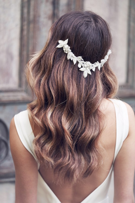 The Romantic & Sparkling Anna Campbell Wanderlust Wedding Dress Collection | Olive Headpiece