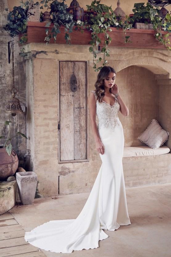 The Romantic & Sparkling Anna Campbell Wanderlust Wedding Dress Collection | Paige Dress (Crepe de Chine)-1