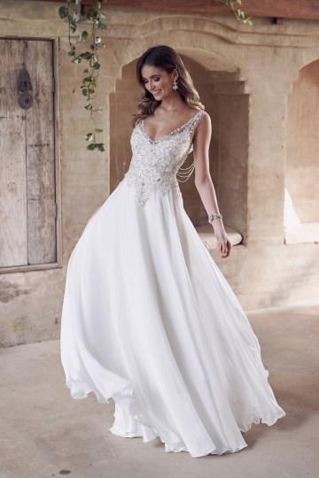 The Romantic & Sparkling Anna Campbell Wanderlust Wedding Dress Collection | Paige Dress (Summer Skirt)-1
