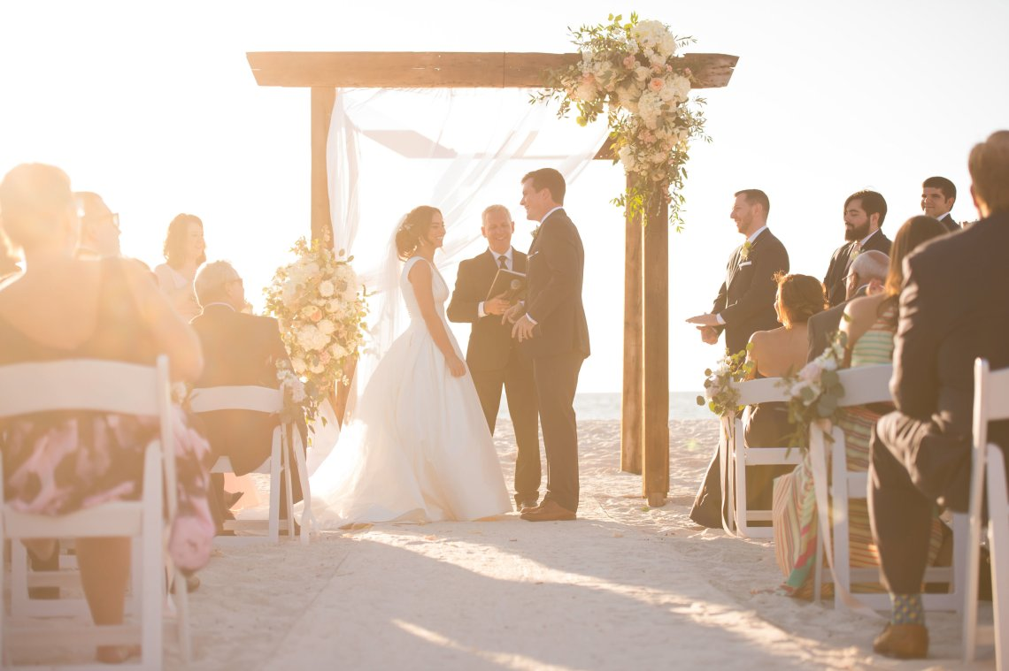 Elegant Pretty Pink Beach Wedding | Stephanie Smith 10