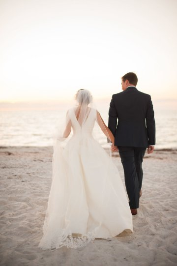 Elegant Pretty Pink Beach Wedding | Stephanie Smith 53