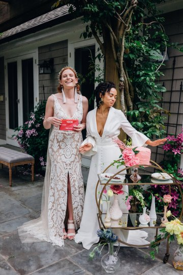 High Style; Luxurious Weed Wedding Ideas | Claire Eliza | High Herstory | Sarah Seven 83