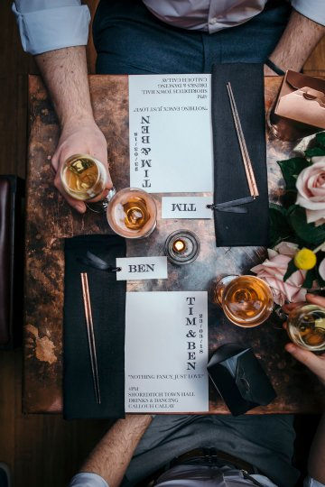 Industrial Copper Cocktail Bar Groom Inspiration | Joasis Photography | ByChenai 41