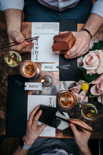 Industrial Copper Cocktail Bar Groom Inspiration | Joasis Photography | ByChenai 42