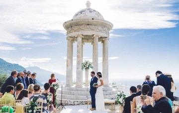 Stylish Mallorca Wedding At A Historic Cliffside Venue