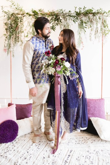 Multicultural Purple and Gold Bollywood Wedding Inspiration – Willow and Ivy Events – Zainab Rikabi 14