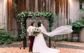Rustic Barn Wedding Filled With Candles & Greenery
