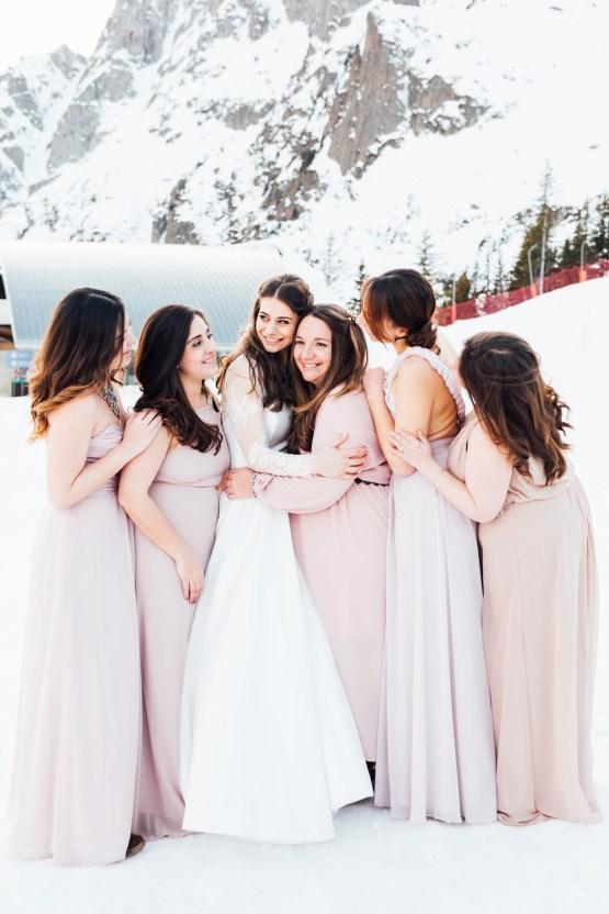 Charming Chamonix Winter Wedding With A Fur Coat – Katie Mitchell 22