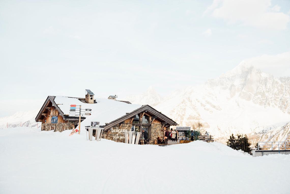 Charming Chamonix Winter Wedding With A Fur Coat – Katie Mitchell 33