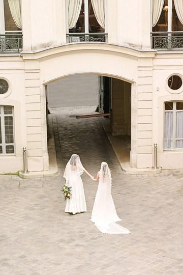 Elegant Blush Parisian Bridal Inspiration Featuring Luxurious Veils and Boudoir Ideas – Bonphotoge 27
