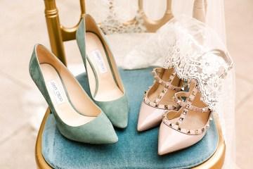 Elegant Blush Parisian Bridal Inspiration Featuring Luxurious Veils and Boudoir Ideas – Bonphotoge 45
