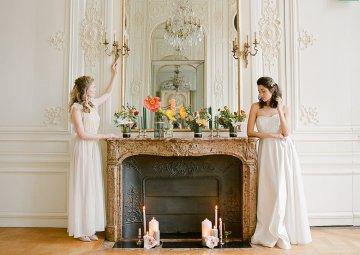 Elegant Blush Parisian Bridal Inspiration Featuring Luxurious Veils and Boudoir Ideas – Bonphotoge 49