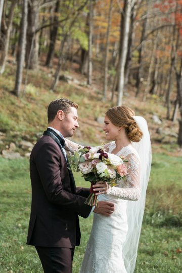 Warm Fall Catskills Wedding With Ceremony Sparklers – Christina Lilly Photography – Buds of Brooklyn 30