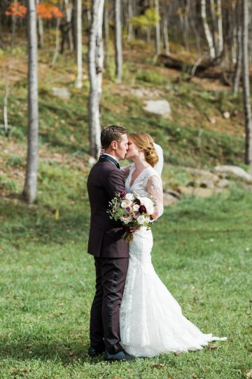 Warm Fall Catskills Wedding With Ceremony Sparklers – Christina Lilly Photography – Buds of Brooklyn 33