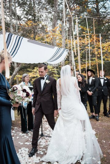 Warm Fall Catskills Wedding With Ceremony Sparklers – Christina Lilly Photography – Buds of Brooklyn 47