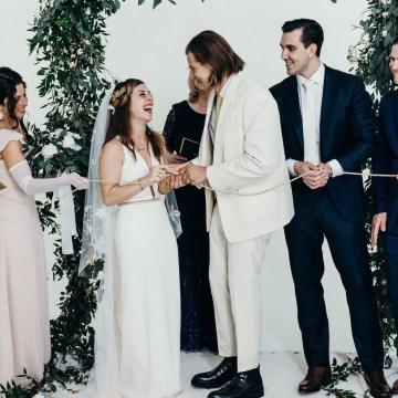 All-White Portland Photo Studio Wedding – Davis Hilton 31