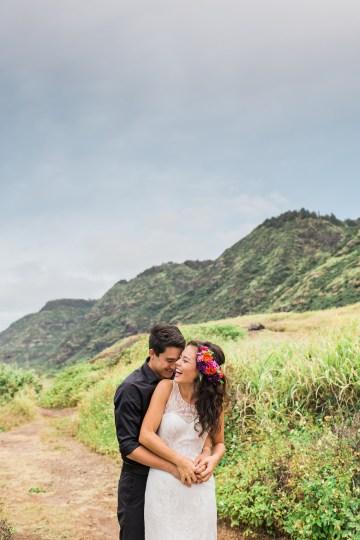 Colorful Hawaiian Boho Wedding Inspiration – Chelsea Stratso Photography 44