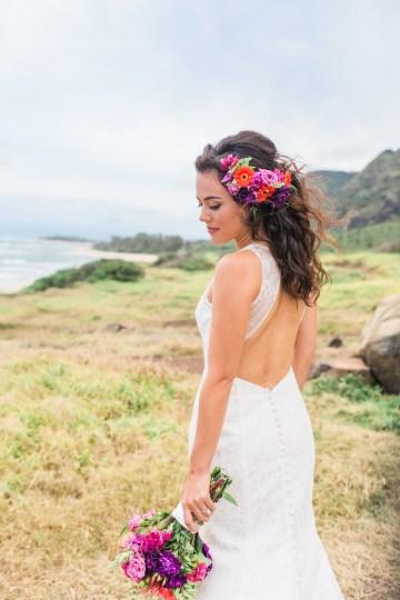 Colorful Hawaiian Boho Wedding Inspiration – Chelsea Stratso Photography 49