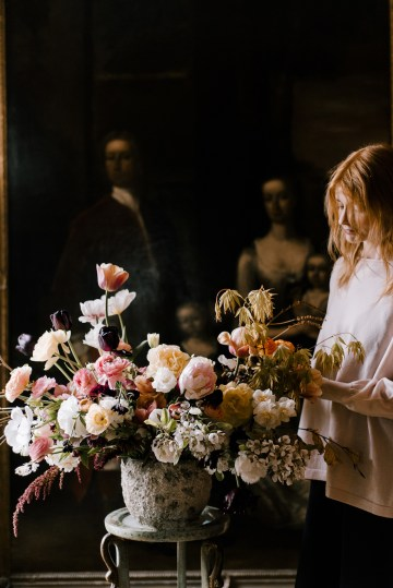 Dramatic Bridesmaid Inspiration With Fall Florals and A Black Jumpsuit – Georgina Harrison Photography 24