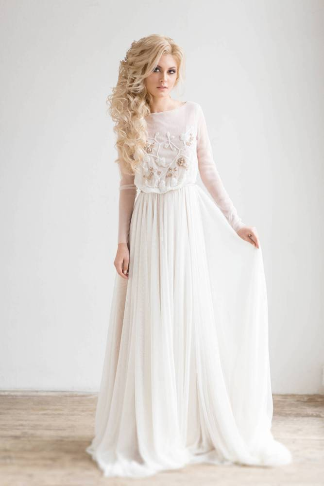 736214a848c1 Romantic wedding dresses for the bride who wants subtle color (on Etsy!)