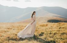 Romantic and Whimsical Etsy Wedding Dresses in Dreamy Colors – Mywony – v neck silk wedding dress 2