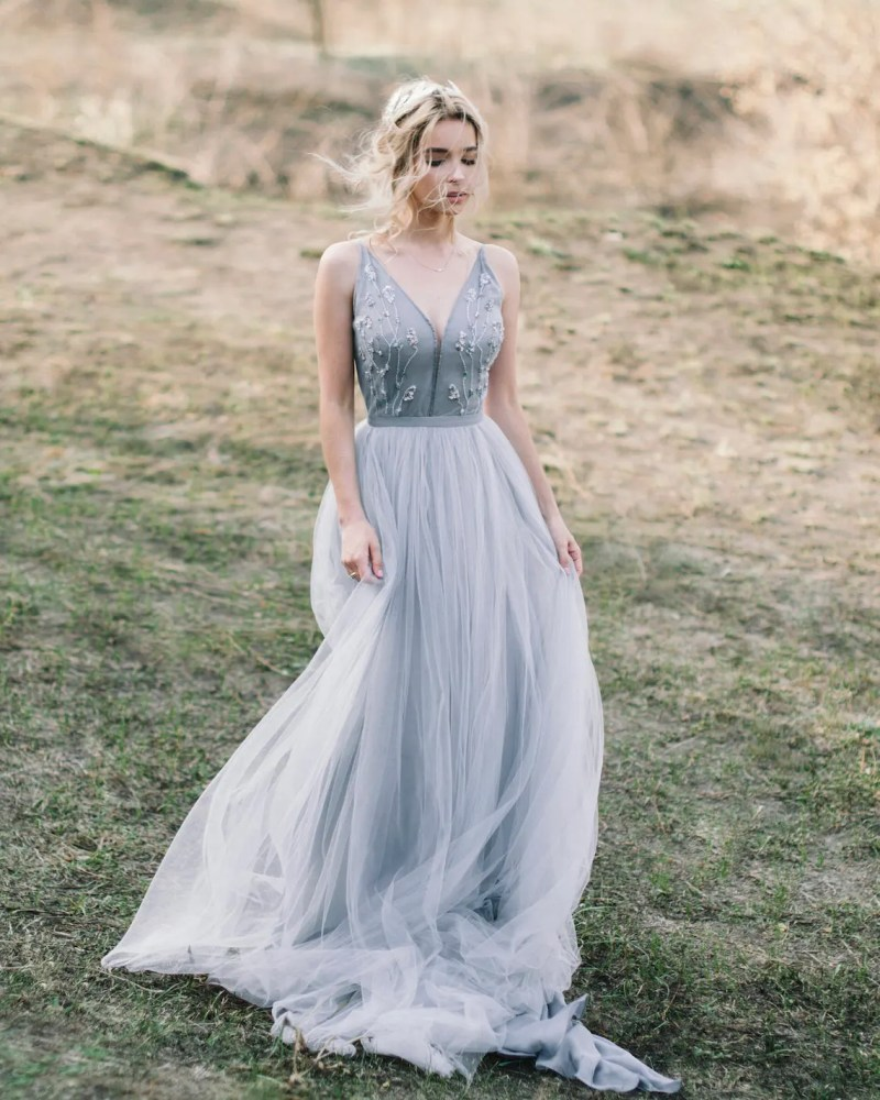 Wedding Gowns In Color: Romantic Wedding Dresses For The Bride Who Wants Subtle