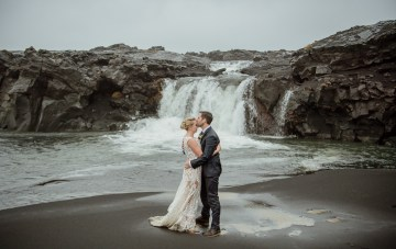 Wild Winter Ice Cave Wedding In Iceland