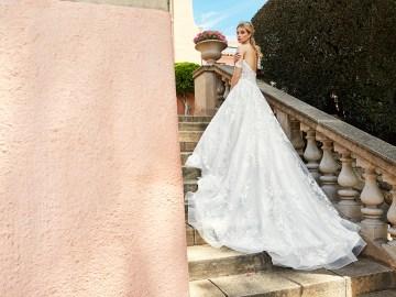 10 Stunning Wedding Dresses By Destination – Val Stefani Cortina Dress 2