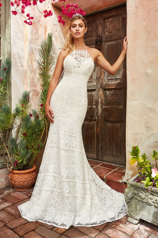 10 Stunning Wedding Dresses By Destination – Val Stefani Meadow Dress 1