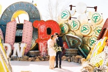 Hip and Colorful Las Vegas Neon Museum Wedding – Kristen Kay Photography 29