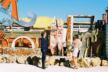 Hip and Colorful Las Vegas Neon Museum Wedding – Kristen Kay Photography 31