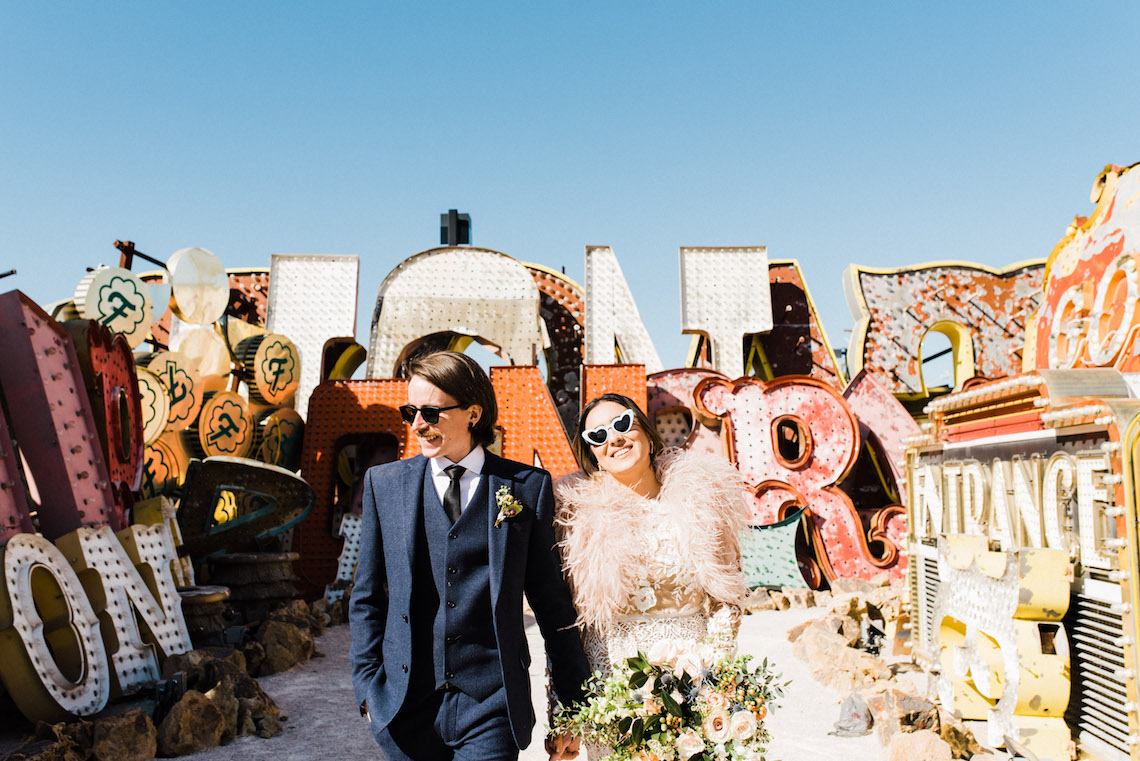 Hip and Colorful Las Vegas Neon Museum Wedding – Kristen Kay Photography 34