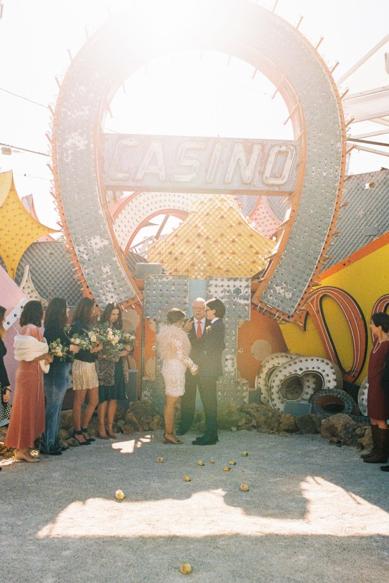Hip and Colorful Las Vegas Neon Museum Wedding – Kristen Kay Photography 9