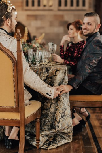 Luxe Mansion Wedding Inspiration Featuring Masculine Florals and Deep Tones – Alex Tenser – Swoon Soiree 22