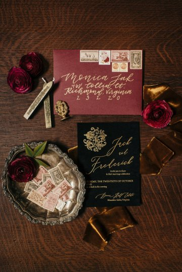 Luxe Mansion Wedding Inspiration Featuring Masculine Florals and Deep Tones – Alex Tenser – Swoon Soiree 7