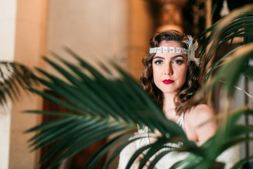 The Great Gatsby Art Deco Wedding Inspiration With Tropical Florals – Holly Castillo Photography 12