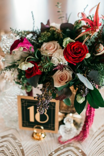 The Great Gatsby Art Deco Wedding Inspiration With Tropical Florals – Holly Castillo Photography 20