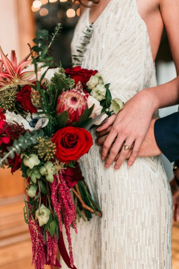 The Great Gatsby Art Deco Wedding Inspiration With Tropical Florals – Holly Castillo Photography 27