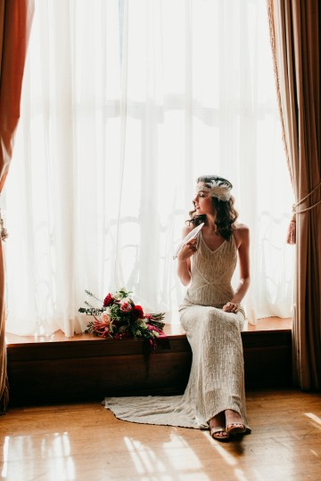 The Great Gatsby Art Deco Wedding Inspiration With Tropical Florals – Holly Castillo Photography 32