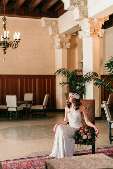 The Great Gatsby Art Deco Wedding Inspiration With Tropical Florals – Holly Castillo Photography 37
